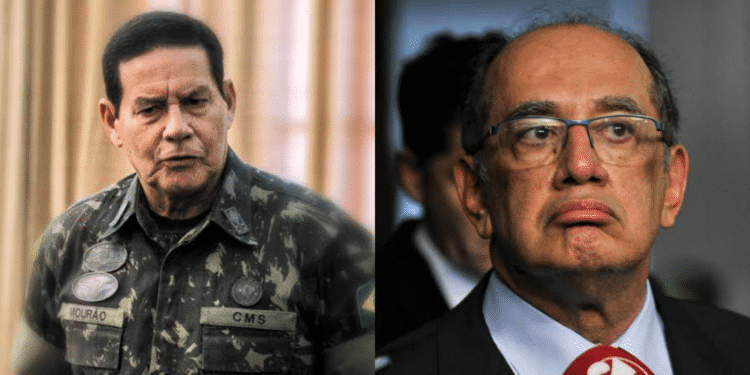 """General Mourão sobe o tom com Gilmar Mendes, e afirma: """"Se ele tiver grandeza moral, tem que se retratar"""""""