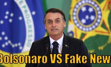 Em seu perfil oficial no Facebook, Bolsonaro aponta mais uma fake news da imprensa contra seu governo
