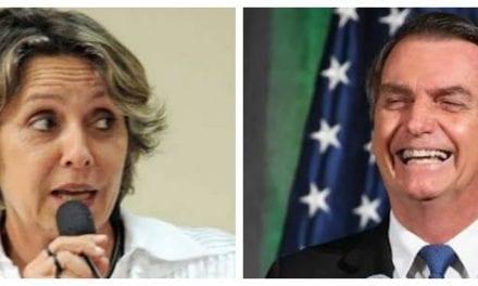 """Uma nova acusação de uma petista contra Bolsonaro: """"Terraplanista"""""""