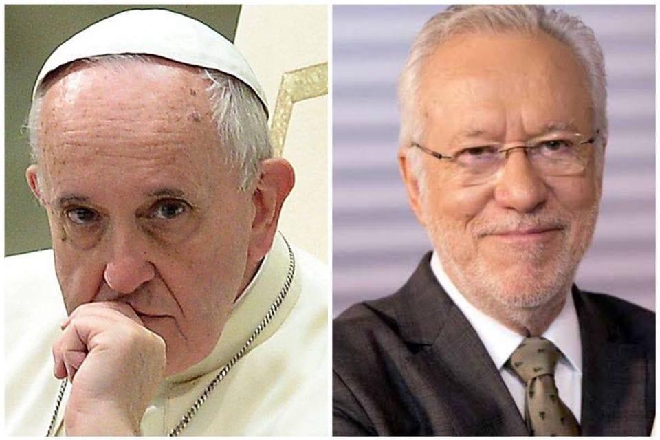 """Alexandre Garcia sobre cartinha do Papa para Lula: """"Parece que ele está aplaudinho a corrupção"""""""