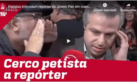 Revoltante! Repórter da Jovem Pan é agredido por militantes da Extrema-Esquerda em ato pró-Lula!