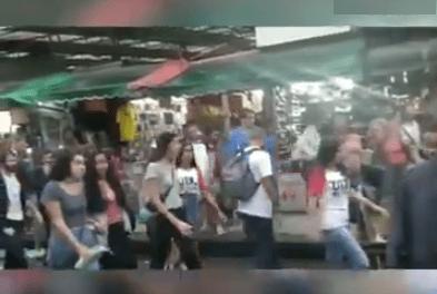 """Video: Estudantes vão protestar em famoso mercado popular do Rio, e são recebidos pelos trabalhadores aos gritos de """"Bolsonaro, Bolsonaro!"""""""