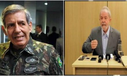 General Heleno perde a paciência, eleva o tom e manda duro recado a Lula