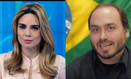 """Rachel Shererazade sugere ao Twitter para """"seguir"""" o Facebook e suspender a conta de Carlos Bolsonaro"""