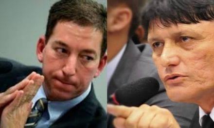 Caso Hacker: Delegado Éder Mauro confronta e detona Glen Greenwald frente a frente