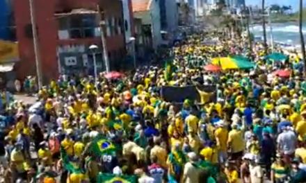 """Baianos lotam manifestação em apoio a Moro em Salvador, e desmontam a falácia esquerdista de que """"o nordeste é PT"""""""