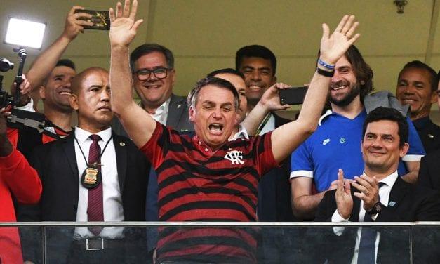 Presidente Bolsonaro e Sérgio Moro no jogo do Flamengo (confira o vídeo)