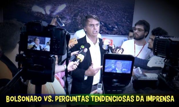 Após pergunta tendenciosa, Bolsonaro encerra a entrevista e se despede