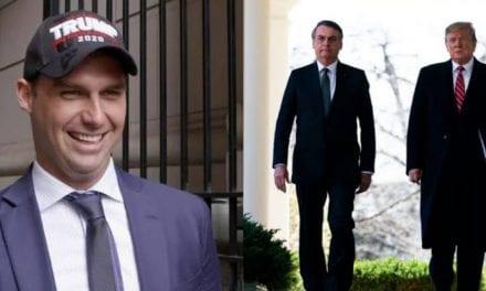 Presidente americano Donald Trump rasga elogios a escolha de Eduardo Bolsonaro para embaixada