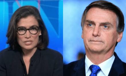 Após episódio com Miriam Leitão, Globo ataca Bolsonaro no Jornal Nacional