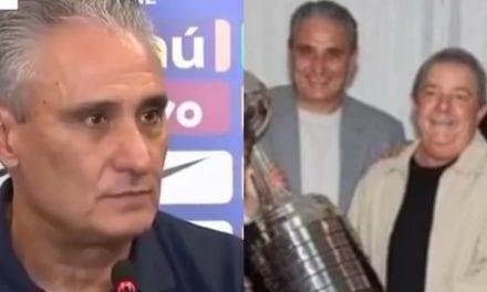 Após dizer que não mistura futebol com politica, internet resgata video de Tite comprimentando Lula