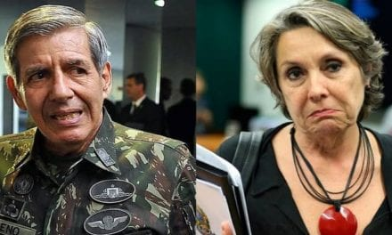 """General Heleno 'detona' deputada petista que tentou constrangê-lo: """"Estamos há 20 anos passando vergonha"""""""