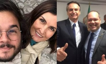 Namorado de Fátima Bernardes volta a atacar Bolsonaro, e é refutado facilmente por deputado do PSL