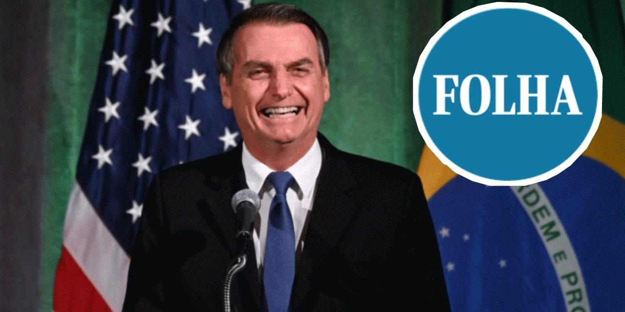 """Bolsonaro afirma: """"Confesso, fiquei com vergonha da Folha de São Paulo"""""""
