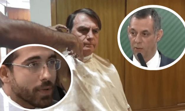 Acredite se quiser: Repórter da Folha questiona corte de cabelo de Bolsonaro, e porta-voz responde de forma elegante