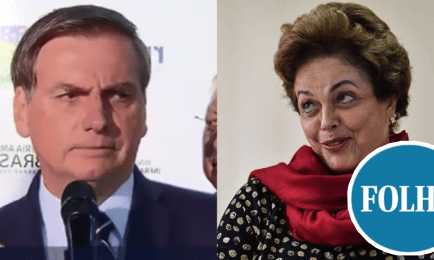 """Bolsonaro retruca ataques de Dilma e detona jornalistas da Folha de S. Paulo: """"Dilma e Folha, né. Não preciso dizer mais nada"""""""