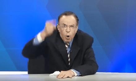 """Ao vivo, jornalista se revolta e faz apelo: """"Em 2020, não votem em partidos de esquerda"""""""