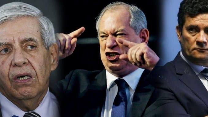 Derrotado, Ciro Gomes surta e insulta Moro e Heleno com palavras de baixo calão