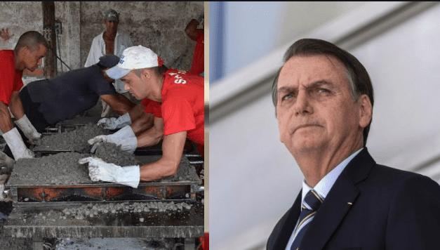 Bolsonaro defende trabalho forçado para presidiários