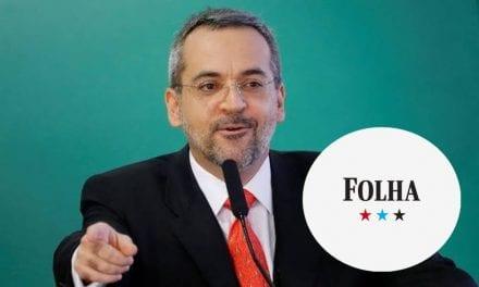 """Ministro da Educação, Abraham Weintraub desmente fake news da Folha: """"Mais uma FAKENEWS para a coleção!"""""""