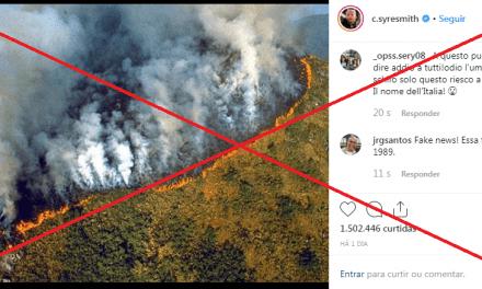 Artistas compartilham imagens antigas da Amazônia como se fossem recentes