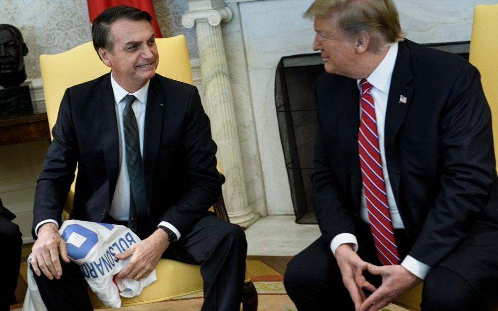 Donald Trump declara apoio à Bolsonaro e ao Brasil