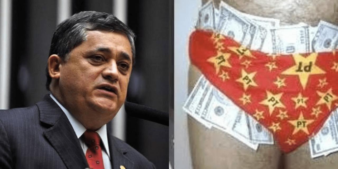 Petista dos dólares na cueca critica o governo Bolsonaro   -Cá pra nós, é muita cara de pau!