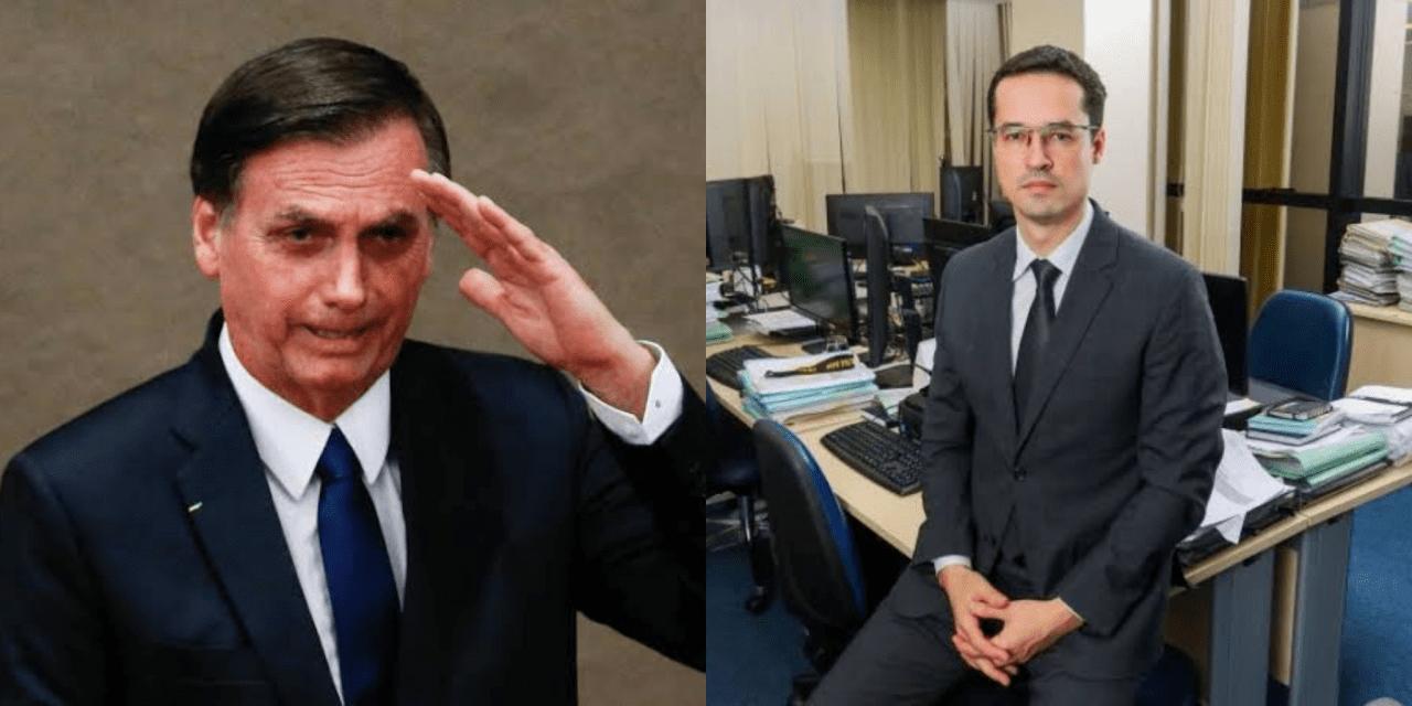 Presidente Bolonaro pede para Deltan procurá-lo sobre cargo na PGR