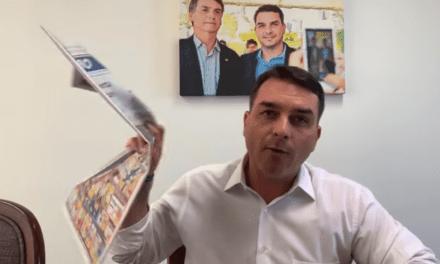 """Flavio Bolsonaro grava vídeo detonando e desmascarando a Globo: """"Esse jornal não é isento, e provo pra vocês"""""""
