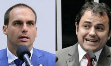 Eduardo Bolsonaro faz deputado que ofendeu Moro perder o controle ao apontar 'podres' do PSOL