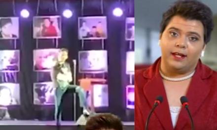 Vídeo: Humorista petista faz chacota com Bolsonaro, platéia não aceita, e se retira do show