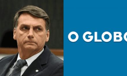 """Mais uma vez, Bolsonaro desmascara 'O Globo' e dispara: """"Uma mentira deslavada"""""""