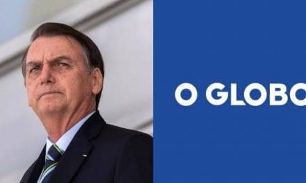 """Na lata, Bolsonaro fala sobre jornal 'O Globo': """"Se você não o lê não está informado, se lê está desinformado."""""""