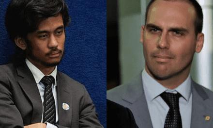 "Eduardo Bolsonaro e Kim Kataguiri discutem na internet: ""Te desafio para um debate"""