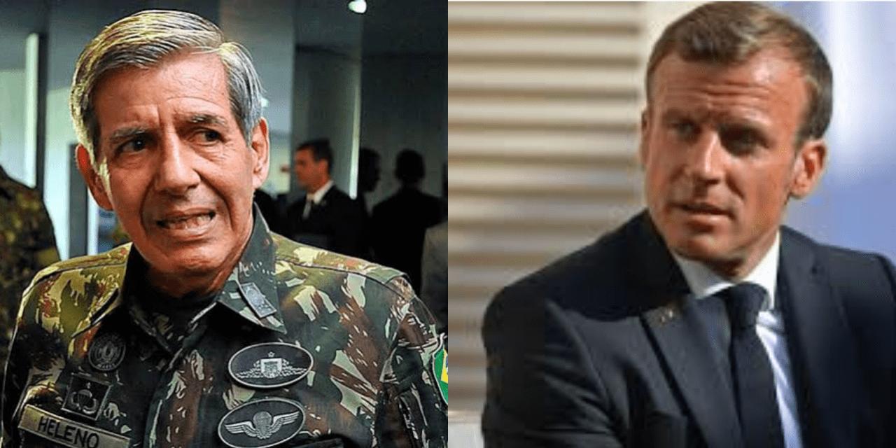 General Heleno detona Macron sobre Amazônia, dá lição para a França e sai em defesa de Bolsonaro