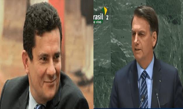 ONU: Bolsonaro exalta Sérgio Moro e cita-o como responsável por punir presidentes socialistas