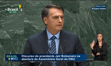 ONU: Jair Bolsonaro lembra a compra de parte da Imprensa e Congresso pelos governos corruptos do PT