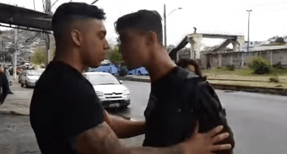 Em legitima defesa, policial e youtuber Gabriel Monteiro reagi a tentativa de agressão de militante esquerdista