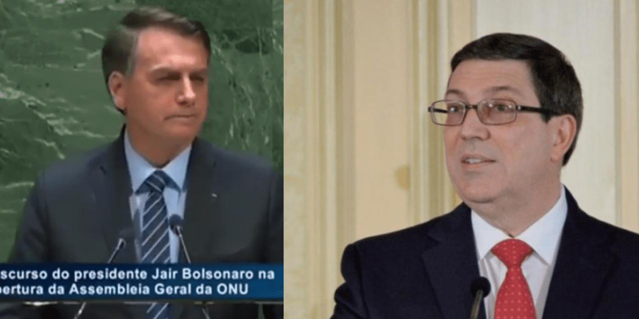 Discurso de Bolsonaro na ONU causa revolta em Chanceler da Ditadura Cubana