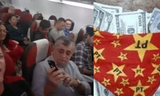 """Vídeo: Durante voo, cidadão detona deputado petista José Guimarães, famoso pelo caso dos dólares na cueca: """"Se defenda. Cade o dinheiro que estava na cueca?"""""""