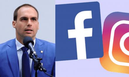 Eduardo Bolsonaro anuncia que irá processar o Facebook e o Instagram