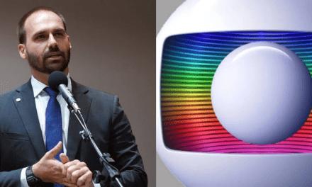 Na televisão, Globo dedica matéria para atacar Eduardo Bolsonaro por postagem de um meme