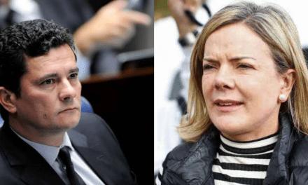 """Gleisi usa levantamento do PT para dizer que """"Reprovação de Moro chega a 91% nas redes"""""""