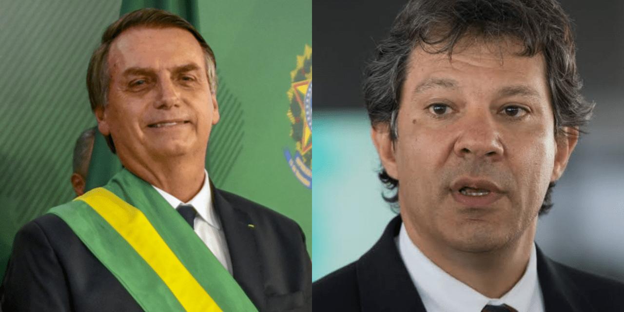 Após divulgação de pesquisa do Datafolha, site de esquerda faz enquete entre Bolsonaro e Haddad, e Bolsonaro vence de lavada