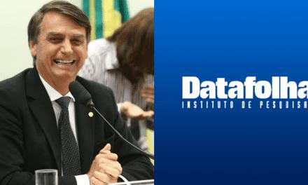 """Bolsonaro sobre pesquisa: """"Alguém acredita no Datafolha? Você acredita em Papai Noel?"""""""