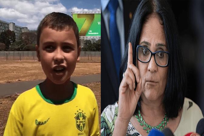 Para o azar da Rede Globo, Ministra Damares tomará medida jurídica contra responsável pela ofensa feita ao garoto Ivo