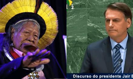"""Cacique Raoni defende saída de Bolsonaro: """"Ele não é uma liderança"""""""