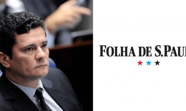 Folha de São Paulo publica matéria criticando Moro, e ministro retruca citando dados
