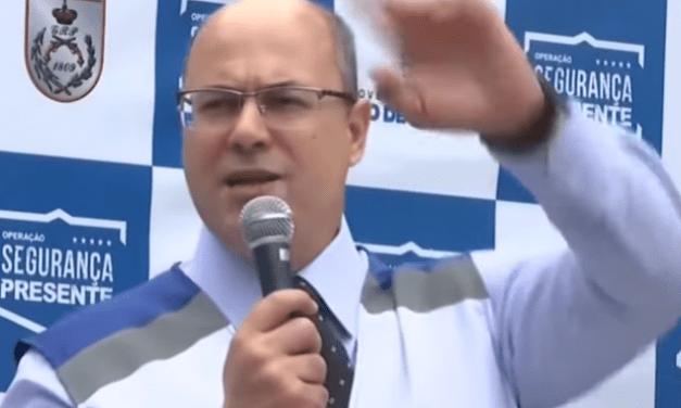 """Vídeo: Durante evento, Witzel é chamado de 'fascista' e responde: """"Tem espaço pra você não, maconheiro"""""""