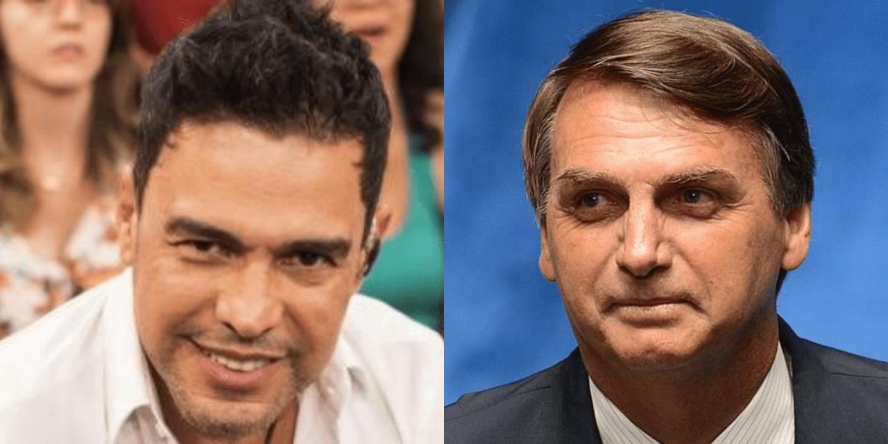 Sem medo de comentários negativos de esquerdistas, Zezé Di Camargo aparece usando camisa do Bolsonaro
